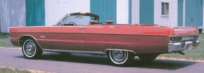 """""""Fuselage styling"""" appeared throughout Chrysler's 1969 line, bringing a fuller, huskier look to the new models, including Plymouth's Sport Fury and VIP."""