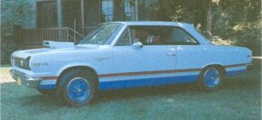 Although most 1969 Rambler SC/Ramblers came with bold red, white, and blue graphics, 500 of the 1,512 produced had a more subtle paint scheme.