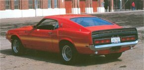 Lacking the ability to make extensive mechanical changes, 1969 Shelbys instead leaned more toward visual differentiation, sporting a distinctive fiberglass front end in addition to the usual taillight modifications.