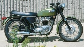 The 1970 Triumph Tiger 650 displays its classic British profile. Japanese motorcycles would soon displace these sorts of bikes in Europe and the U.S.