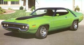This 1971 Plymouth Road Runner was one of only  with a Hemi engine. See more pictures of Plymouths.