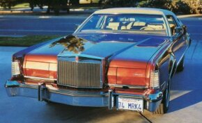 Among the styling cues from the Lincoln Continental Mark III  incorporated in the 1974 model were the hidden headlights.