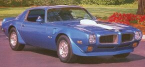 The 1972 Pontiac Firebird Trans Am came with a new honeycomb grille design.
