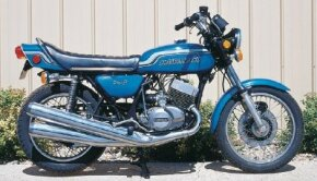 The landmark Kawasaki H2 750 IV was known not only for its speed, but for its tricky handling