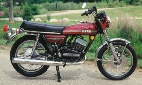 The 1974 Yamaha RD350 was followed by Yamaha two-stroke versions of 125 cc and 400 cc.