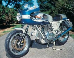 The Ducati 900SS motorcycle, introduced in 1976, was powered by an 860-cc V-twin engine. See more motorcycle pictures.