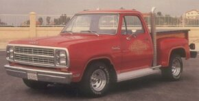 Offered for 1978 and 1979, the Dodge Li'l Red Truck had a strong-for-the-day V-8, garish trim, and big-rig-worthy chrome exhaust stacks. See more classic truck pictures.