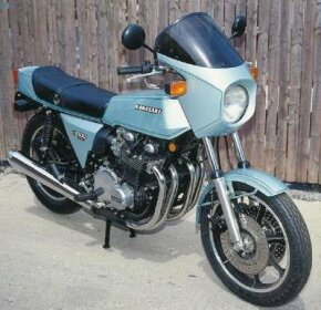 The 1978 Kawasaki Z1-R shown here was very fast and had an even quicker turbocharged companion in the Z1-R TC. See more motorcycle pictures.