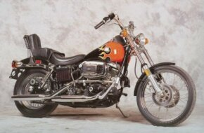 "The 1980 Harley-Davidson FXWG Wide Glide was a true ""chopper."" See more motorcycle pictures."