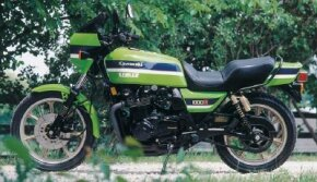 The 1982 Kawasaki KZ1000R was widely known as the Eddie Lawson Replica, after a top bike racer. See more motorcycle pictures.