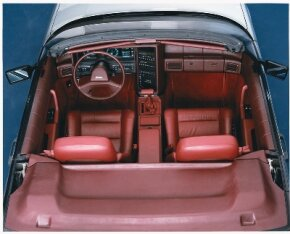 The leather-upholstered seats on the Allante looked cushy enough, but some found them a bit hard.