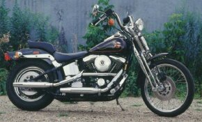 During Harley's 85th Anniversary, the 1988 FXSTS Softail Springer was one of three models selected to wear commemorative paint and badges. See more motorcycle pictures.