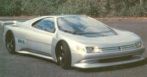 The 1988 Peugeot Oxia concept car descended from a series of futuristic Peugeot cars.