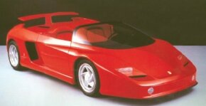 Without a roof or side windows, the 1989 Ferrari Mythos concept car was a roadster in the truest sense of the term.