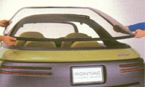 All in all, five panels were removable on the 1989 Pontiac Stinger concept car, including the rear glass.