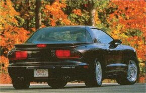 A steeply raked, 68 degree windshield was the focal point of the 1993 Pontiac Firebird.