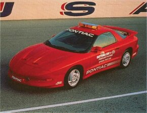 Marketing for the 1993 Pontiac Firebird included a spin as the Daytona 500 official pace car.