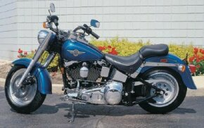 The 16-inch solid wheels front and rear helped set the Fat Boy apart from other Harley models.
