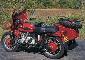 The sleek fairing might look at home on a 1980s sportbike, but other components of the Ural appear more out of date and strictly functional.