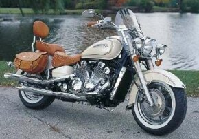The cream opalescent paint, faux tan leather accents, and chrome trim help make the Palamino Edition a special ride. See more motorcycle pictures.