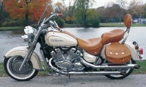 Though it looks like a wide-angle, air-cooled V-twin, the Royal Star's engine is a water-cooled V-four.