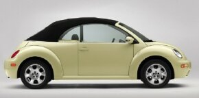 Long awaited and a hit when it finally arrived, the 2003 Volkswagen New Beetle convertible started at $20,450 for the base GL model and $26,725 for the top-ine GLX.