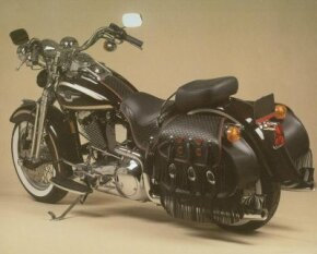 The 1998 Harley-Davidson FLSTS Heritage Springer differed from previous versions only in its black color scheme. See more motorcycle pictures.