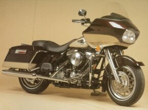The 1998 Harley-Davidson FLTRI Road Glide's unusual half-fairing makes it easily identifiable. See more motorcycle pictures.