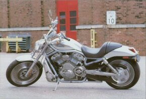 The 2002 Harley-Davidson VRSCA V-Rod is considered a new breed of high-tech motorcycle. See more motorcycle pictures.