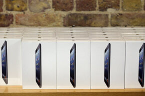 Boxes containing the iPad mini. Who on your holiday list wouldn't love one of these?