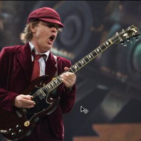 Guitarist Angus Young of AC/DC performs at Conseco Fieldhouse on Nov. 3, 2008 in Indianapolis, Ind.