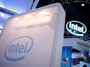 The Intel booth had several interactive displays that were powered by the company's microprocessors.