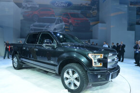 The all-new 2015 Ford F-150 has a high-strength, military-grade, aluminum alloy body.