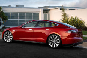 The software within the Tesla Model S can be updated wirelessly (from home), similar to a smartphone or a computer.