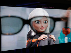 The 3D High-definition Plasma Television from Panasonic is an example of 3-D technology at CES 2009.