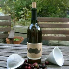 Homemade wine can make an excellent gift, especially with a little creative label making. See more wine pictures.