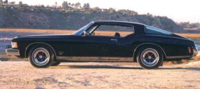 This 1973 Riviera GS, resplendent in black and sans vinyl roof, also has the Stage I 455.
