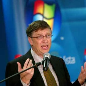 Bill Gates speaks during a launch of the Windows Vista operating system. Users can use Safe Mode in Vista as well as earlier versions of Windows. See more Bill Gates pictures.