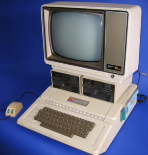 The Apple II with a 6502 processor running at 1 MHz.