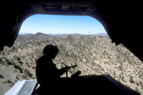 The U.S. military scoured the Middle East for signs of bin Laden, including remote areas of Pakistan and Afghanistan.