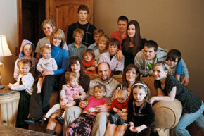 This plural family of one father, three mothers and 21 children lives in Salt Lake Valley among monogamous families.