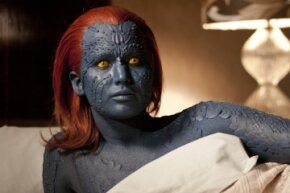 """Jennifer Lawrence, seen here as Mystique in """"X-Men: First Class,"""" was one of the world's highest-paid actresses in 2014."""
