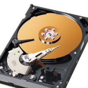 Hard disks store digital information in a relatively permanent form. See more computer hardware pictures.