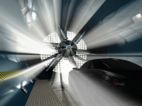 Cars (and airplanes) have their aerodynamics tested by wind tunnels.­
