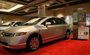 The Honda Civic GX runs on natural gas as well as other alternative fuels.