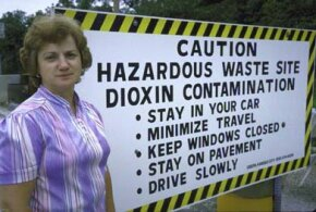 Ex-Mayor Marilyn Leistner of Times Beach, Mo., which became a ghost town after dioxin contamination in 1983