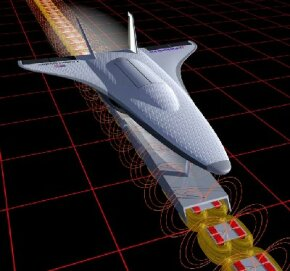 Magnetic levitation tracks could one day be used to launch vehicles into space.