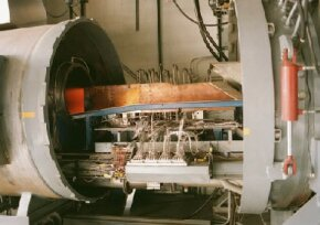 Test firing of an air-breathing rocket engine in 1998.