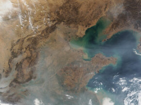This image of the air pollution over China might make anyone faint of heart.