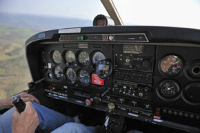 Flight instruments help pilots keep an eye on conditions.